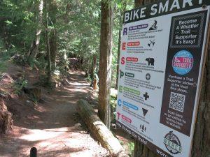 Placa de Sinalização do Whistler Bike Park