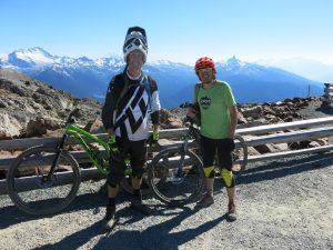 Início da trilha Top of the World no Whistler Bike Park